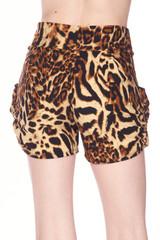 Buttery Soft Predator Leopard Plus Size Harem Shorts