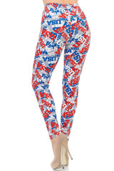 Buttery Soft All Over USA Leggings