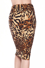 Buttery Soft Predator Leopard Pencil Skirt
