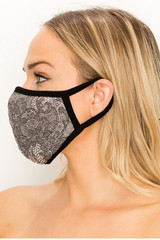 Women's Lace Knit Floral Face Mask - Made in the USA