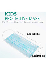 KID'S - Single Use Disposable Face Masks - 50 Pieces