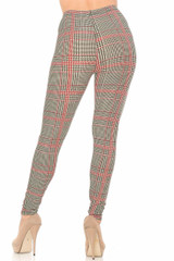 Buttery Soft Black and Red Glenn Plaid Plus Size Leggings