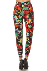 Buttery Soft Rainbow Marijuana Joggers