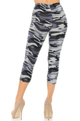 Buttery Soft Monochrome Camouflage Capris