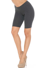 Charcoal USA Basic Cotton Biker Shorts - Bermuda Cut