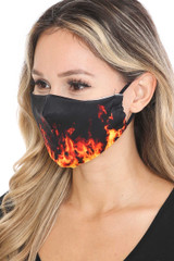 Fire Graphic Print Face Mask