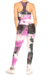 Tri-Pink Tie Dye Scrunch Butt Top and Leggings Set