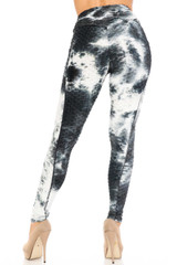 Premium Dalmatian Tie Dye Scrunch Butt Workout Leggings with Side Pockets
