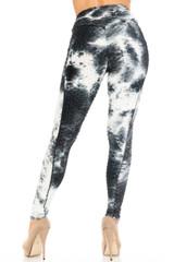 Premium Dalmatian Tie Dye Scrunch Butt Workout Leggings with Side Pockets