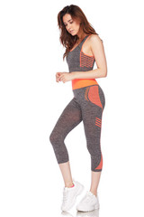 Racerback Tank Top and Capris Activewear Set