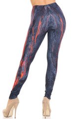 Creamy Soft Hot Lava Plus Size Leggings - By USA Fashion™