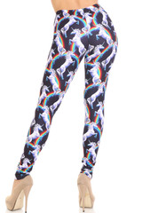 Creamy Soft Rainbow Unicorn Leggings - By USA Fashion™