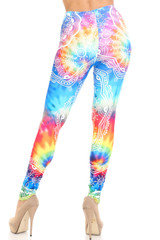 Creamy Soft California Tie Dye Plus Size Leggings - By USA Fashion™