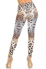 Creamy Soft Leopard Star Extra Plus Size Leggings - 3X-5X - USA Fashion™