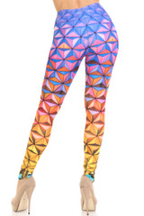 Creamy Soft Ombre Epcot Leggings - USA Fashion™