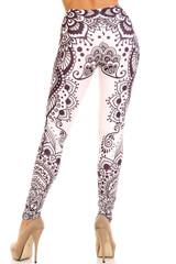 Creamy Soft Creamy Tribal Mandala Extra Plus Size Leggings - 3X-5X - USA Fashion™