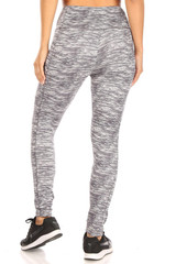 Tummy Sculpting Light Fleece Heathered Sport Leggings