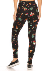 Soft Fleece Australian Christmas Leggings
