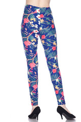 Buttery Soft Elegant Flowing Floral Plus Size Leggings