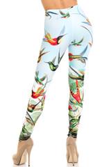 Creamy Soft Happy Hummingbirds Extra Plus Size Leggings - 3X-5X - USA Fashion™