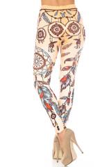 Creamy Soft Dreamcatcher Extra Plus Size Leggings - 3X-5X - USA Fashion™