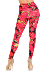 Creamy Soft Strawberry Plus Size Leggings - USA Fashion™