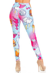 Creamy Soft Fast Food Comic Plus Size Leggings - USA Fashion™