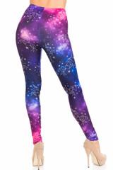 Creamy Soft Unicorn Galaxy Extra Plus Size Leggings - 3X-5X - USA Fashion™