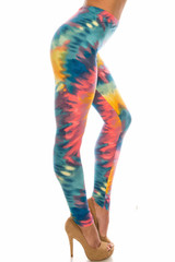 Buttery Soft Multi-Color-Bold Tie Dye Plus Size Leggings