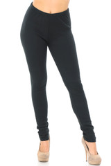 Front view of Creamy Soft Fleece Lined Plus Size Leggings - USA Fashion™