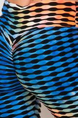 Orange and Blue Brazilian Figure Flatter Scrunch Butt Leggings