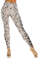 Creamy Soft Ivory Python Leggings - USA Fashion™