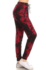 Buttery Soft Burgundy Tie Dye Joggers