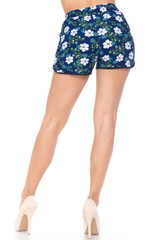Summer Blue Floral Dolphin Shorts