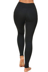 Solid High Waisted Black Workout Buttery Soft Leggings with Side Pockets