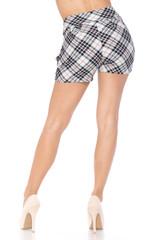 Contour Ivory Angled Plaid Harem Shorts