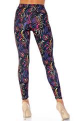 Creamy Soft Ombre Paisley Swirl Extra Plus Size Leggings - 3X-5X - USA Fashion™