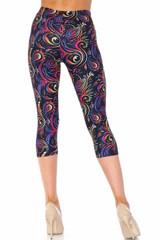 Creamy Soft Ombre Paisley Swirl Capris - USA Fashion™