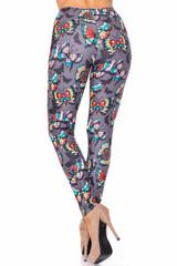 Creamy Soft Jewel Tone Butterfly Plus Size Leggings - USA Fashion™