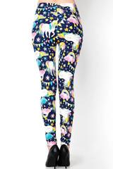 Buttery Soft Rainbow Unicorn Celebration Extra Plus Size Leggings - 3X - 5X