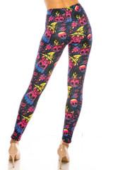 Creamy Soft Autumn Ombre Skulls Leggings - USA Fashion™