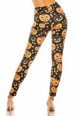 Creamy Soft Halloween Pumpkins Leggings - USA Fashion™