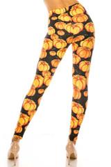 Creamy Soft Autumnal Pumpkins Extra Plus Size Leggings - USA Fashion™