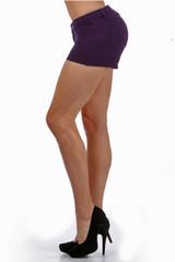 Purple Signature Cotton Shorts