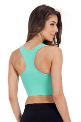 Zip It Up Padded Sports Top