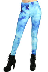 Blue Swirl Galaxy Leggings