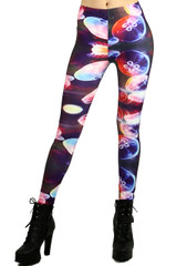 Glowing Jellyfish Leggings - Plus Size