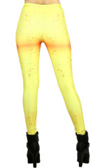 Yellow Water Drop Leggings - Plus Size