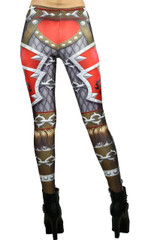 Red Steel Plate Armor Leggings