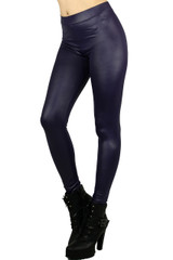 Purple Select Matte Liquid Cotton Leggings